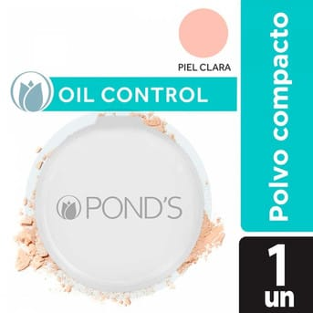 Polvo Compacto Pond's Oil Control Angel Face Piel Clara 12g