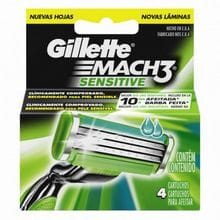 Repuesto Gillette Mach3 Sensitive 4un