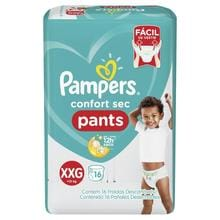 Pañales Pampers Confort Sec Pants Xxg 16u