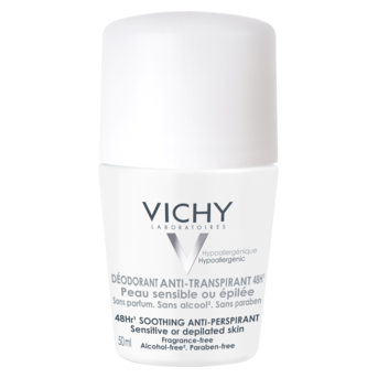 Desodorante Roll-On Vichy de Piel Sensible Anti-Transpirante 48Hs 50ml