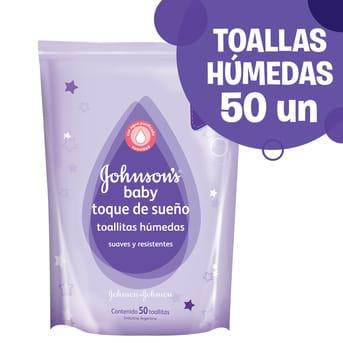 Toallitas Húmedas Johnson's Baby Toque de Sueño 50un