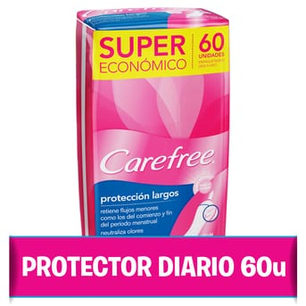 Protectores Diarios Protección Largo 60u