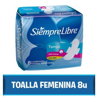Toallas Femeninas Siempre Libre Tanga con Alas 8un