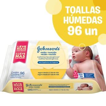 Toallitas Húmedas Johnson's Baby Recién Nacido 96un