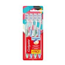 Cepillo Dental Colgate Pro Cuidado Suave 4 Unidades