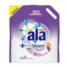 Jabón Líquido ALA c/toque Vivere Violetas Flores Blancas 3L