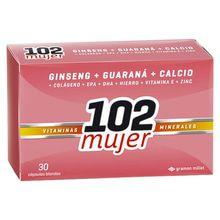 102 Mujer Suplemento Vitaminas Minerales 30 Capsulas