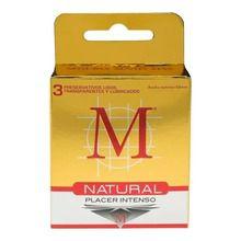 Preservativos NATURAL Profilactico De Latex x3u