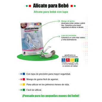Alicate Baby Innovation para Bebés con Lupa