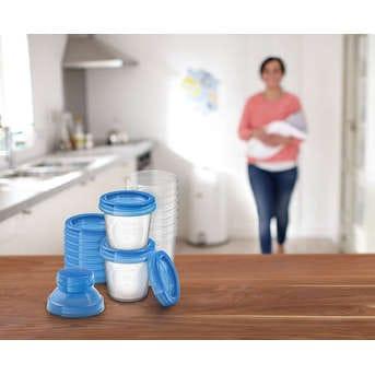 Vasos De Almacenamiento Avent Leche Materna y Papilla