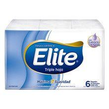 Elite Pañuelos Descartables con Extractos de Seda 6 Paquetes 10u c/u
