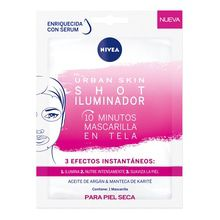 Nivea Máscara Facial Urvan Skin Shot Iluminadora 1u
