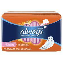 Toallas Femeninas Always Protección Plus Suave 16 un