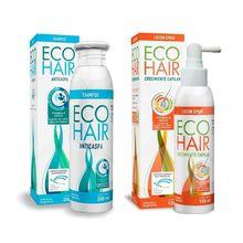 Eco Hair Shampoo Anti Caspa 200ml + Locion Anticaida 125ml