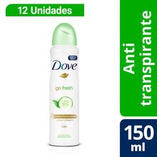 Dove Go Fresh Aerosol 150ml x12 unidades