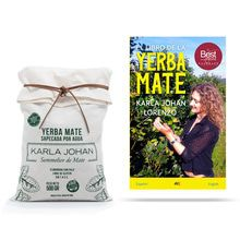 Yerba Mate Sapecada por Agua Karla Johan S/Tac 500Gr + Libro Yerba Mate