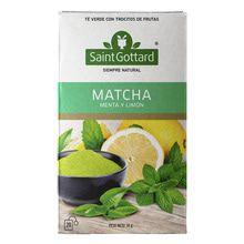 Té Verde Matcha, Menta Y Limón Saint Gottard 20 Saquitos