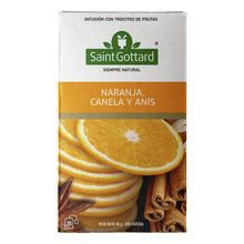 Té Naranja, Canela Y Anís Saint Gottard 20 Saquitos