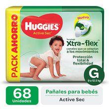 Pañales Huggies Huggies Active Sec Xtra-Flex Promopack
