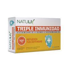 Natuliv Triple Inmunidad Vitamina C+zinc+vitamina D Defensas