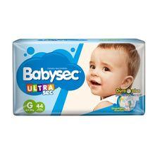 Pañales Babysec Ultrasec Protección Día - Noche Hiperpack