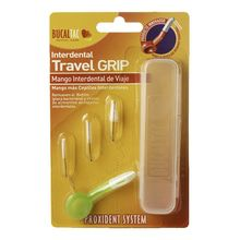 Mango Porta Cepillo Interdental Bucal Tac Travel Grip + 3 Cepillos