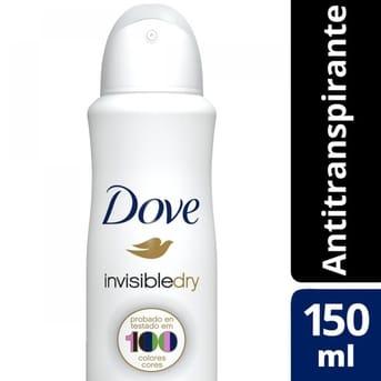 Desodorante Antitranspirante en Aerosol Dove Invisible Dry 150ml