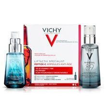 Combo Vichy Peptide C 30 Amp +  Mineral 89 Serum + Ojos