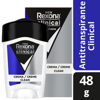 Desodorante Crema Rexona Men Clinical 48g A/T