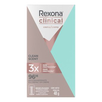Desodorante Crema Rexona Wom Clinical Clean Fresh A/T 48g