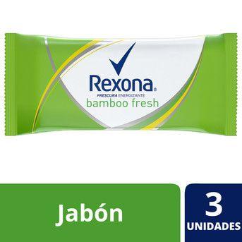 Jabón en Barra Rexona Bamboo Fresh 125g Pack 3un