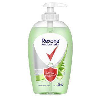 Jabón Líquido Rexona Antibacterial Aloe 250ml