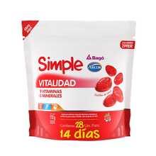Bagó Simple Vitalidad Minerales Vitaminas 28 Pastillas Goma