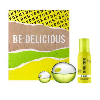 Set Perfume Mujer Dkny Be Delicious Edp 100ml + 7ml + Shower