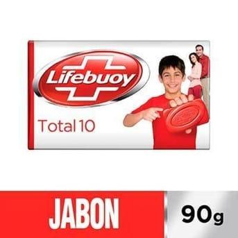 Jabón Lifebuoy Total Antibacterias 1un 90g