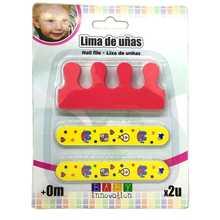 Baby Innovation Lima De Uñas C/separador Dedos Amarillo Rojo