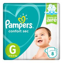 Pañales Descartables Pampers Confort Sec Minipack