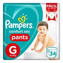 Pañales Descartables Pampers Confort Sec Pants Megapack