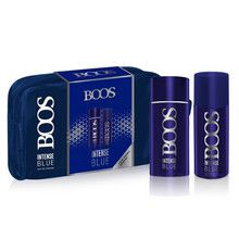 Set Perfume Boos Intense Blue 90ml + Desodorante + Neceser