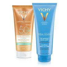 Vichy Solar Gel Ultra Fundente FPS50 + Post Solar Leche