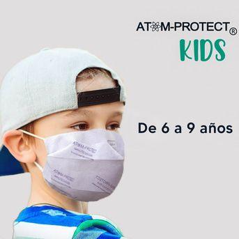 Mascarilla Social Atom-protect Kids Tapaboca Pediatrico 1u
