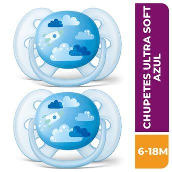 Chupete Avent Ultra Soft 6-18 222/22 Azul 2un