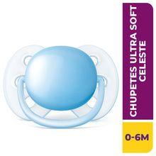 Chupete Philips Avent Ultra Soft 0-6m Celeste Scf412/10