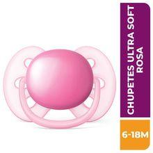 Chupete Philips Avent Ultra Soft 6-18m Rosa Scf415/12