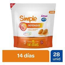 Simple Defensas Sistema Inmune Doy Pack 28 Pastillas De Goma