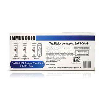 Test Rápido Covid de Antígenos SARS COV 2 Immunobio