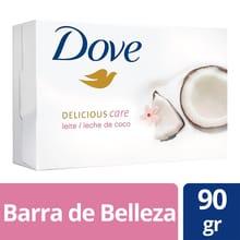 Jabón Pastilla Individual Dove Leche de Coco 90g