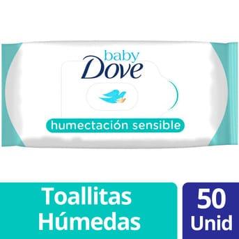 Toallitas Húmedas Dove Humectación Sensible 50un