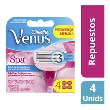 Cartuchos Para Afeitar Gillette Venus Spa x4un