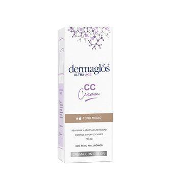 Crema con color CC Cream ULTRA AGE con FPS30 Dermaglós